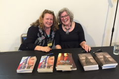 Book signing by Suzanne Fisher Staples (on right)