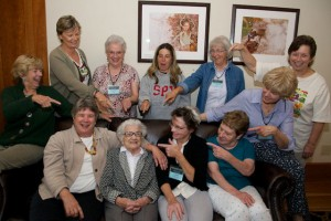 Kay Yoder and workshop participants
