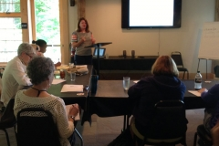 You're looking forward to having your first book published. But how does it get promoted? What are you expected to do? What will the publisher do? Kerry McManus addressed those questions and more in her presentation on promotion Tuesday.