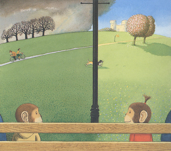 From Voices in the Park, by Anthony Browne