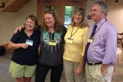 From left: Jill Mitchell of Marstons Mills, MA, Megan McDonald, Clara Clark, Larry Rosler.