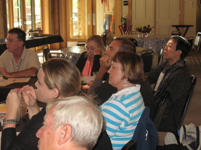 Wayne (far left) and fellow attendees were attentive listeners!