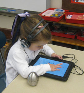 Technology at work in Natalie's classroom