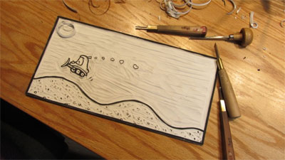 Carving a picture book