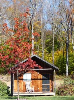 fall cabin
