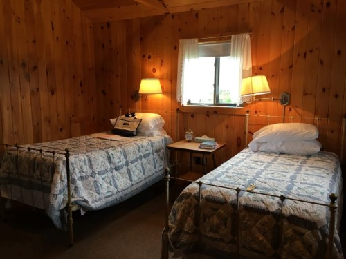 Each cabin had comfortable twin beds, but none of us had to share! (I don't think)