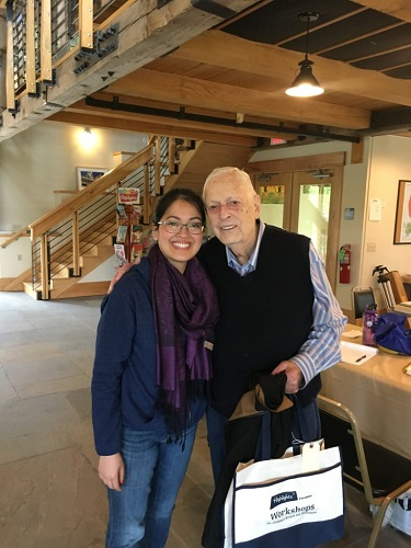 Me and the brilliant, gracious Peter Jacobi. I am so lucky to have had the opportunity to learn from him! (And talk classical music, too!)