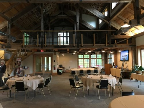 The interior of the Barn… such a beautiful space! You can see the loft up top where yoga sessions were held a couple times weekly.