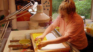 Denise Fleming at work