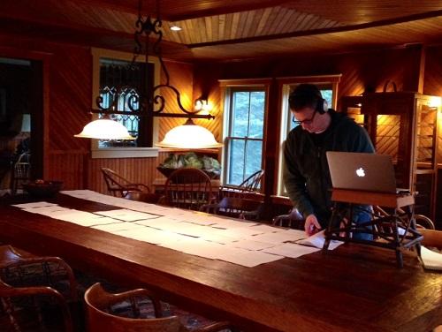 Chris Tebbetts, working