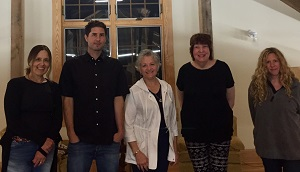 Matt and fellow writers during his August residency.