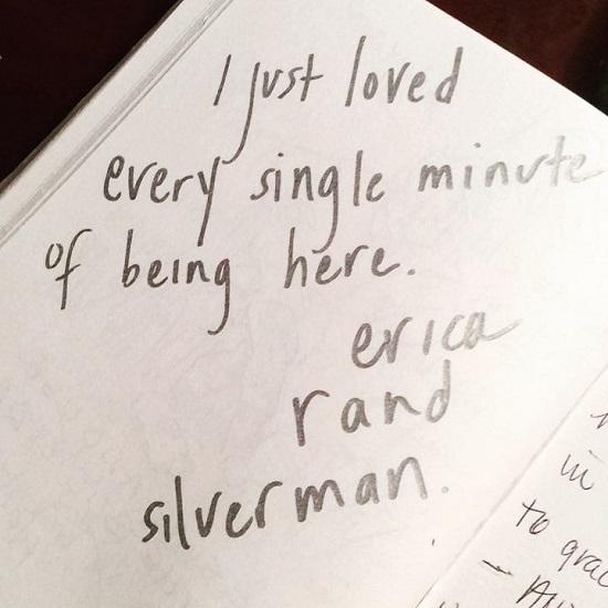 Erica's note