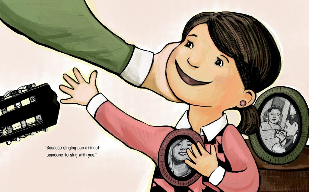 Illustration from Sing, Don't Cry by Angela Dominguez