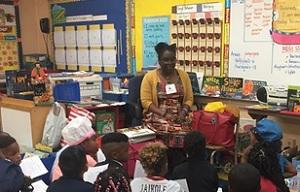 Andrea Loney school visit
