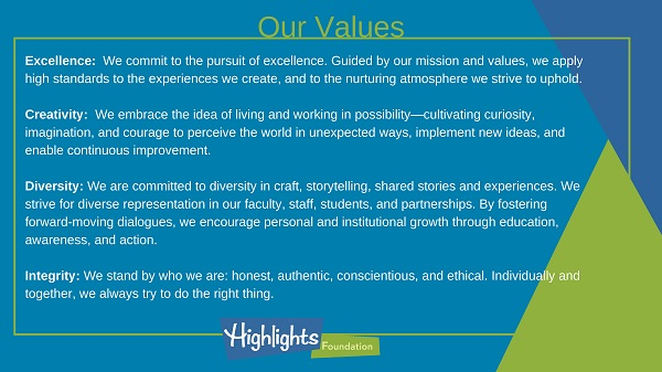 Highlights Foundation Mission and Values