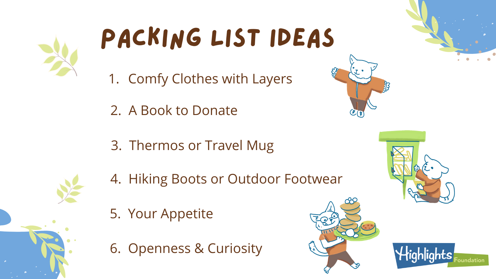 Packing List for Your Retreat
